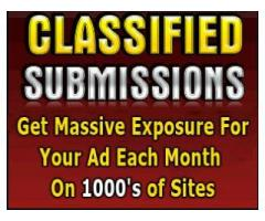 Submit Your Classified Ad To 1000's Advertising Sites Now!