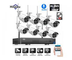 1080P CCTV HD Wireless 3TB HDD Outdoor IP Wifi Camera Security System Surveillance