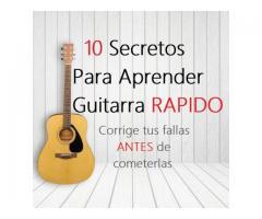 Diez secretos para aprender a tocar guitarra rápido