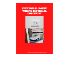 Free Electrical House wiring Material checklist.