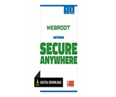 Webroot Internet Security with Antivirus Protection Software | 3 Device