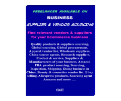 Supplier and Vendor Sourcing