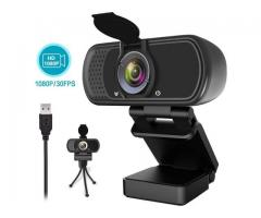1080P Webcam,Live Streaming Web Camera with Stereo Microphone