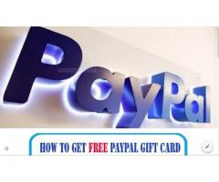 Gift Card free Paypal