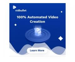 """Great News! The revolutionary new automated video creation software """"VidBullet"""" is now LIVE!"""