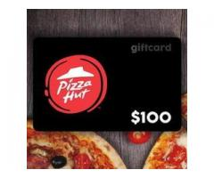 Free Pizza Hut Gift Card $100