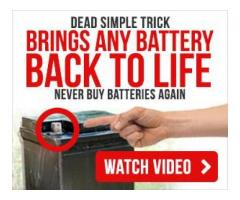 """The """"Battery Restoration Trick"""" your mechanic doesn't want you to know about"""