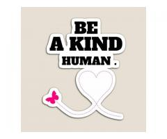 Be a kind human Sticker Hardcover