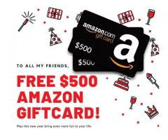 Chance to get a Free Amazon $500 Giftcard(USA Only)