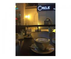 Breakfast in circle cafe