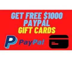 $1000 ✅PAYPAL GIFT CARD ✅GIVEAWAY GET  FREE✅