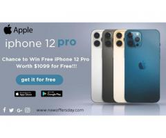 Chance to ✅Win Free iPhone 12 ✅Pro  Worth $1099✅for Free!!!
