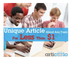 Unique article about any topic for less than $1