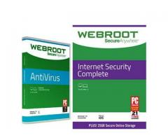 Webroot Internet Security Complete with Antivirus Protection (1 Year/ 10 Devices)