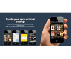 Create Your Mobile Apps Right Now! No Coding Required!