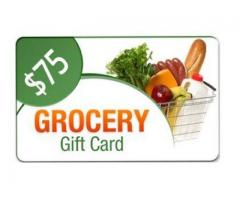 $75 Grocey Gift Card Giveaway