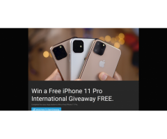 Iphone 11Pro Giveaway (Free)