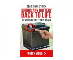 Dead Simple Trick Brings Any Battery Back To Life (Never Buy Batteries Again)