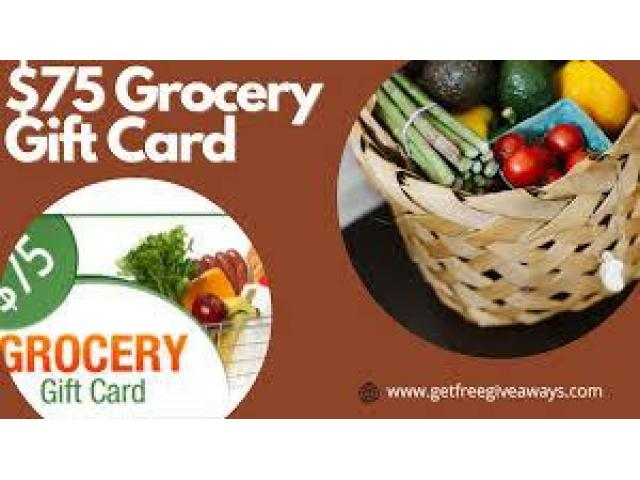 RZUSA - $75 Grocery Giftcard (Submit) (US)