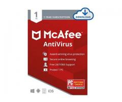 Buy McAfee AntiVirus for 1 Device - SoftBest2Buy