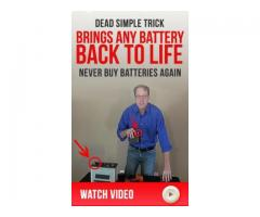 """The """"Battery Restoration Trick"""" your mechanic doesn't want you to know about."""