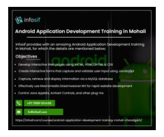 Android Training in Chandigarh  INFOSIF