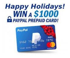 win 1000 paypal card for free